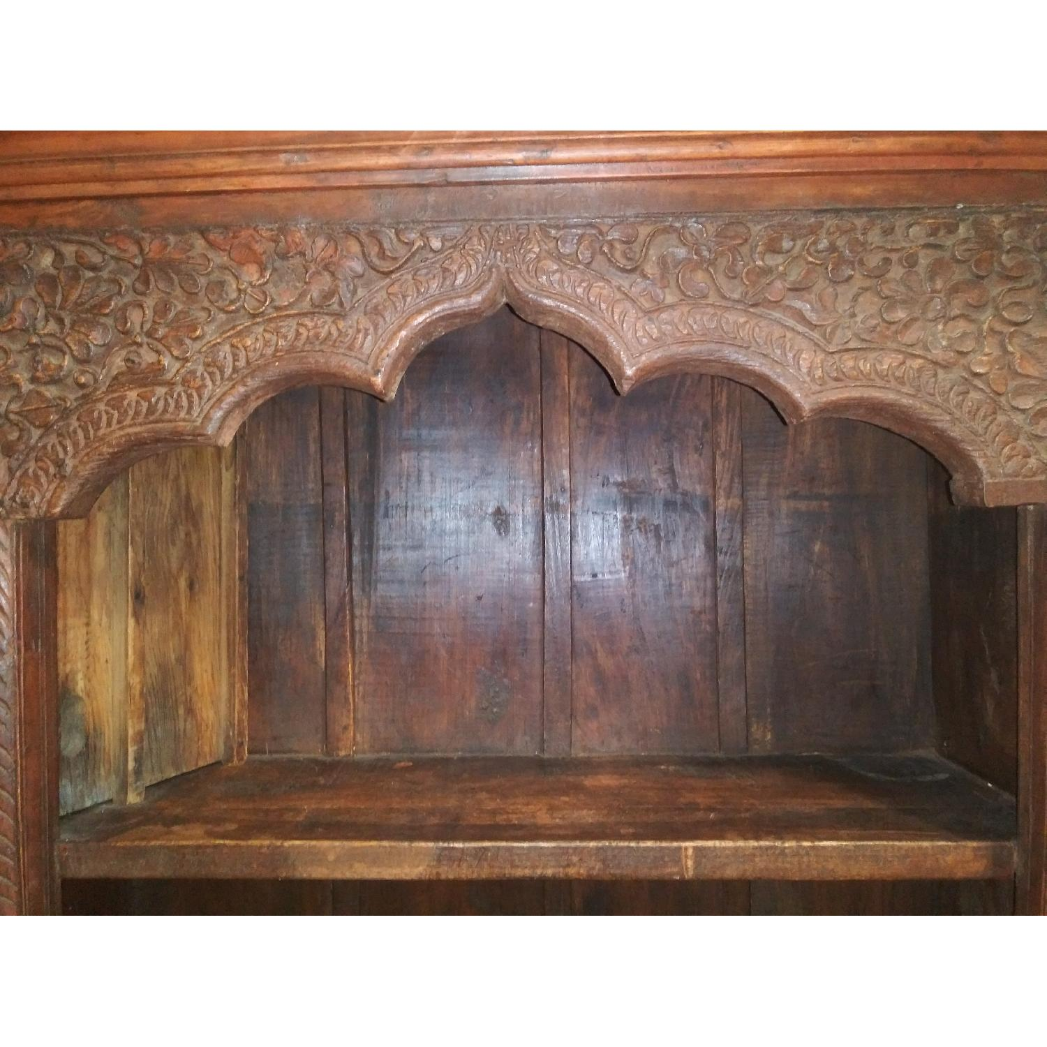 Hand Carved Wood Bookcase-0