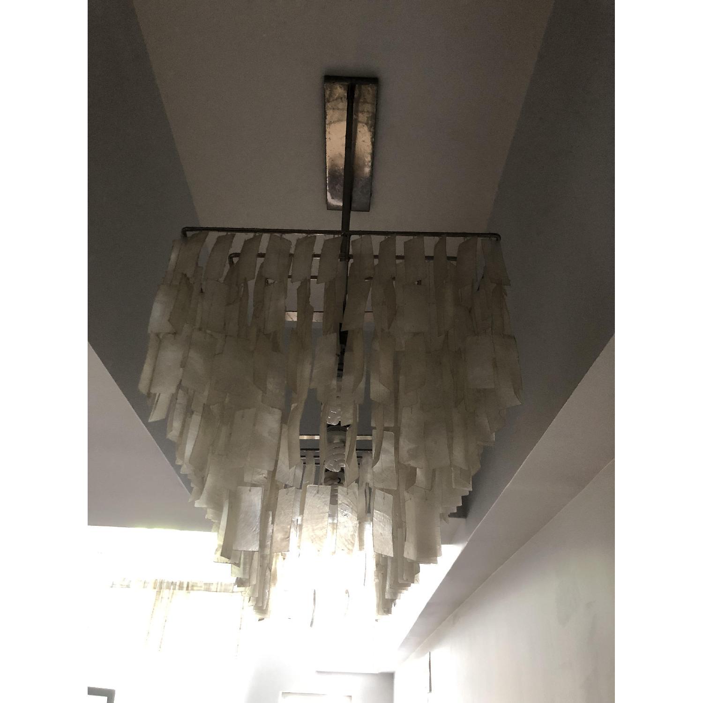 Pottery Barn Crystal Drop Rectangular Chandelier - image-2