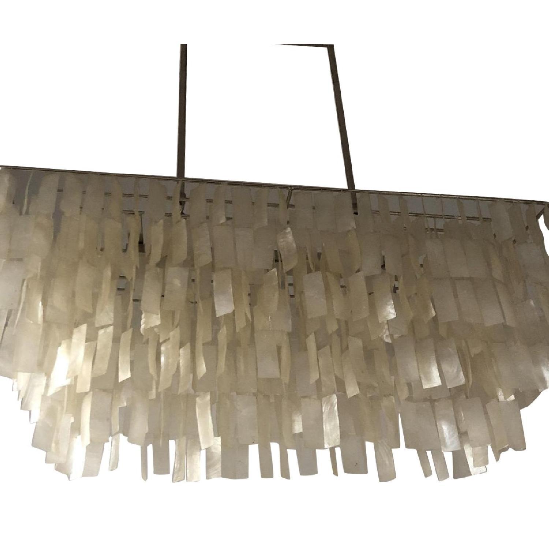 Pottery Barn Crystal Drop Rectangular Chandelier - image-0