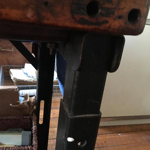 Used Antique Industrial Sewing Machine Table/Base for sale on AptDeco