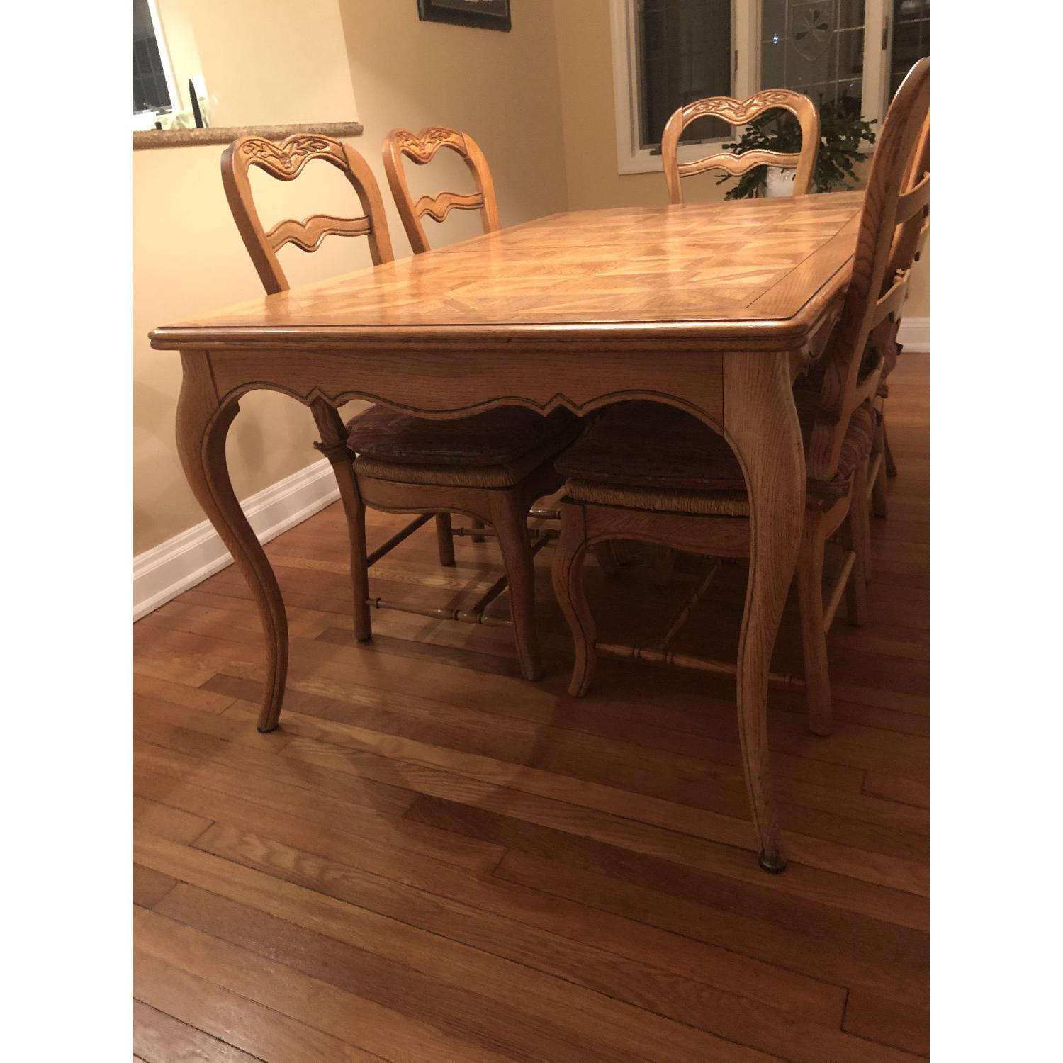 Provence Expandable Dining Table w/ 8 Chairs - image-1