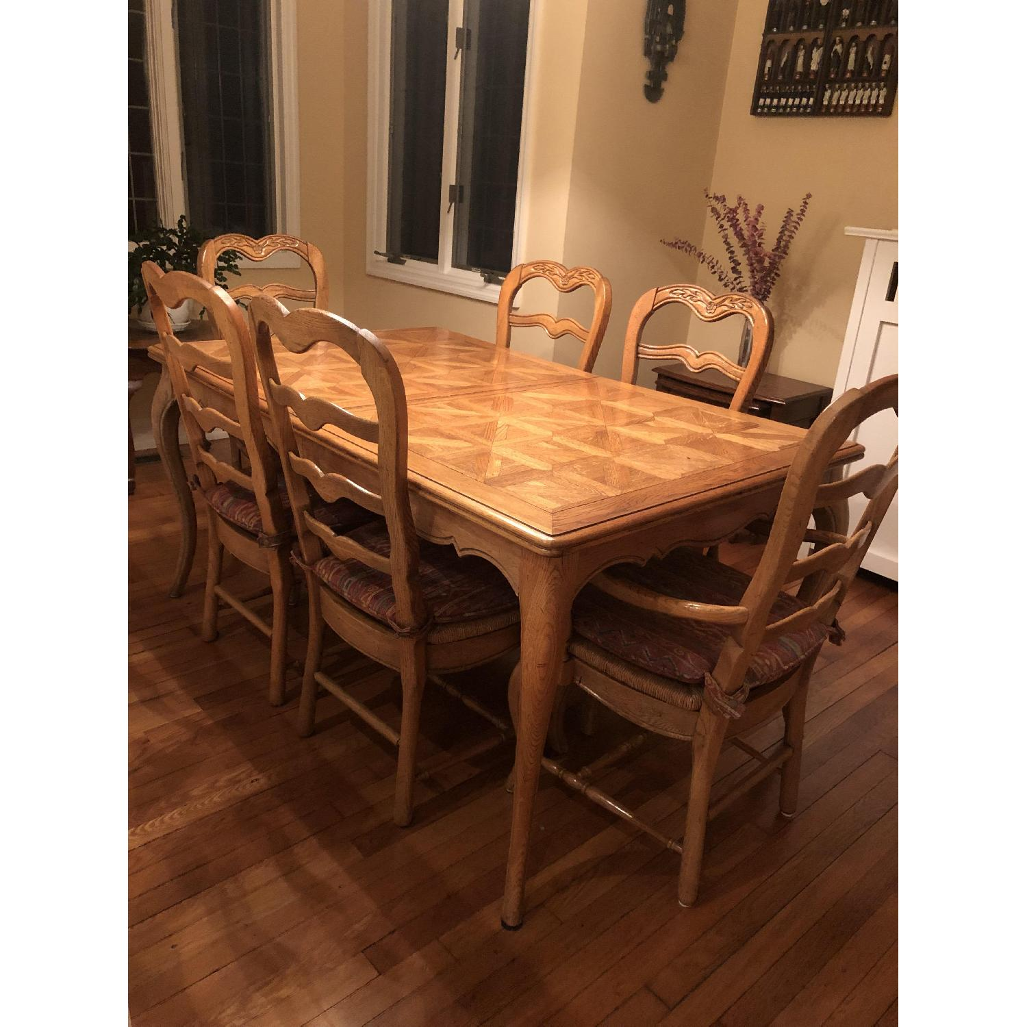 Provence Expandable Dining Table w/ 8 Chairs - image-3