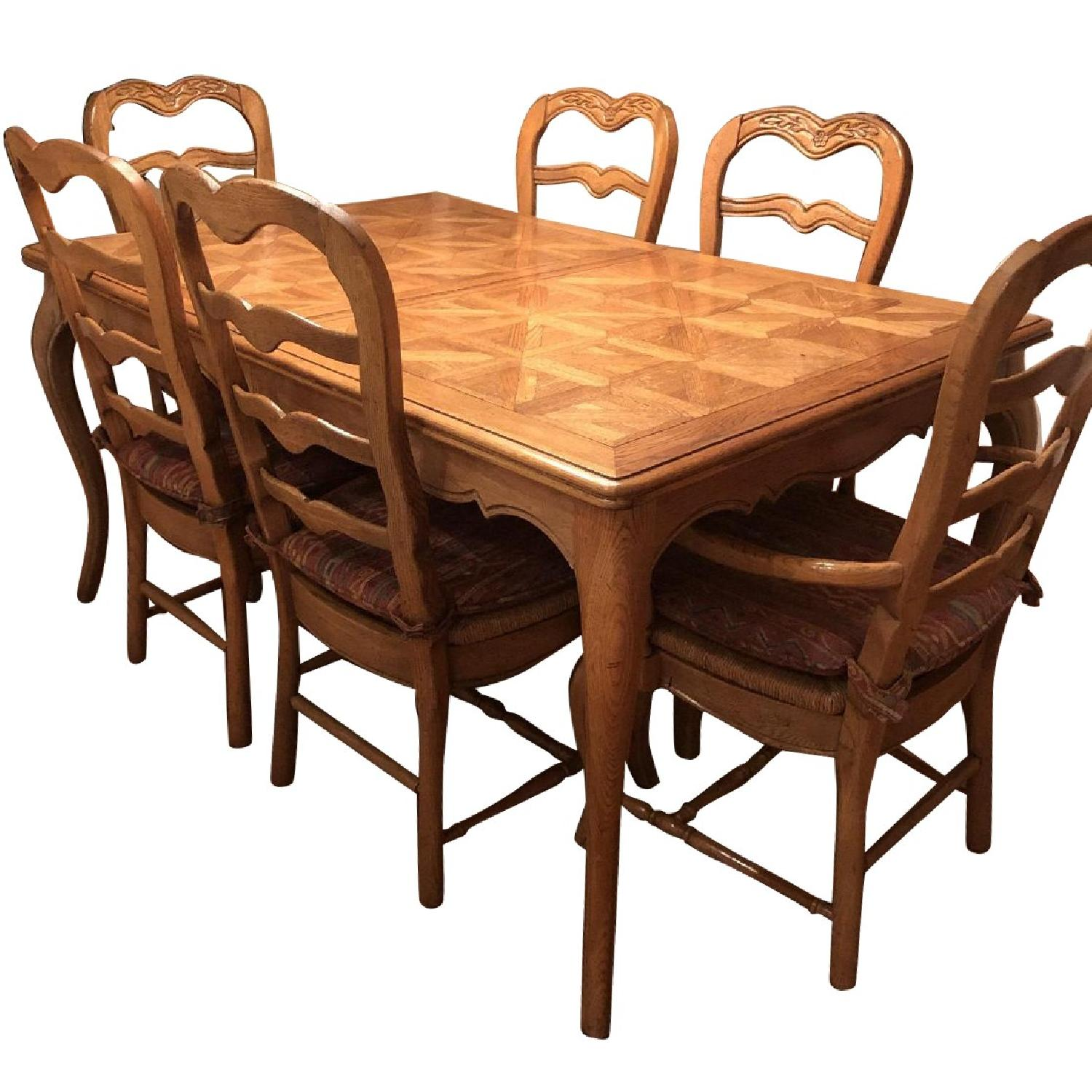 Provence Expandable Dining Table w/ 8 Chairs - image-0