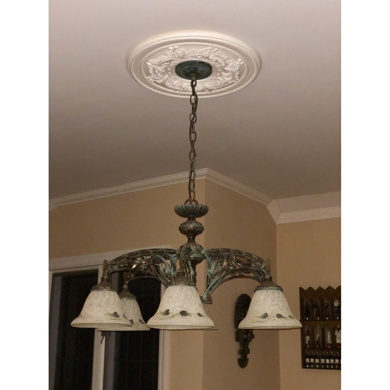 Classic Lighting Corporation Wrought Iron Chandelier - image-1