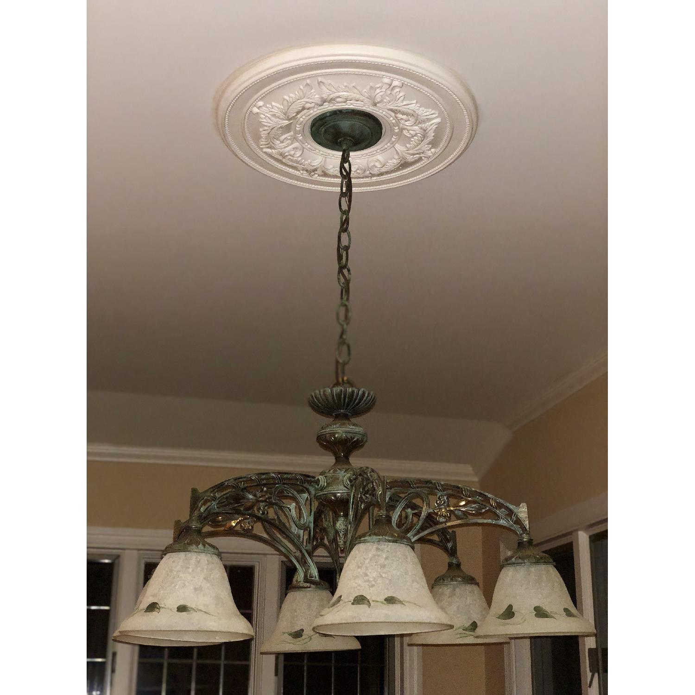 Classic Lighting Corporation Wrought Iron Chandelier - image-2