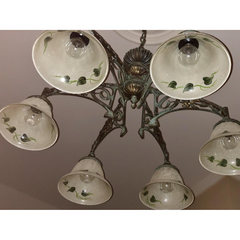 Classic Lighting Corporation Wrought Iron Chandelier - image-3
