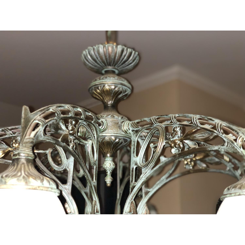 Classic Lighting Corporation Wrought Iron Chandelier - image-4