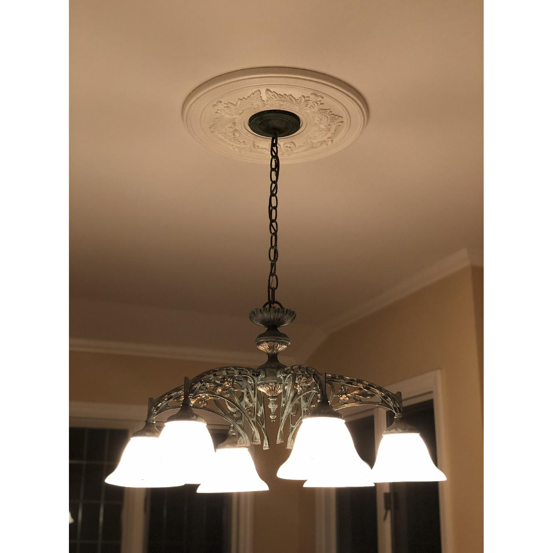 Classic Lighting Corporation Wrought Iron Chandelier - image-5