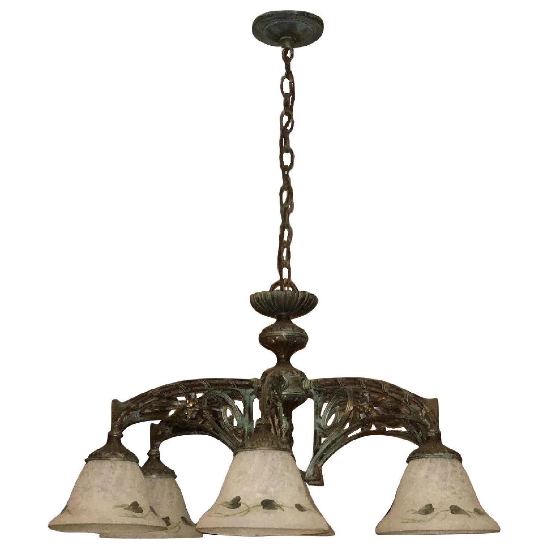 Classic Lighting Corporation Wrought Iron Chandelier - image-0