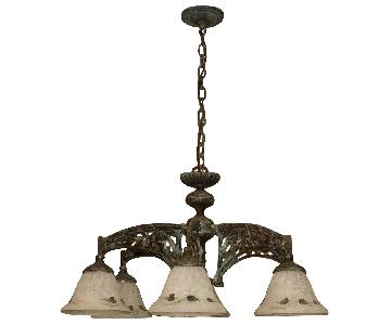 Classic Lighting Corporation Wrought Iron Chandelier