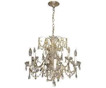 Swarovski Schonbek Crystal Chandelier w/ Brass Finish