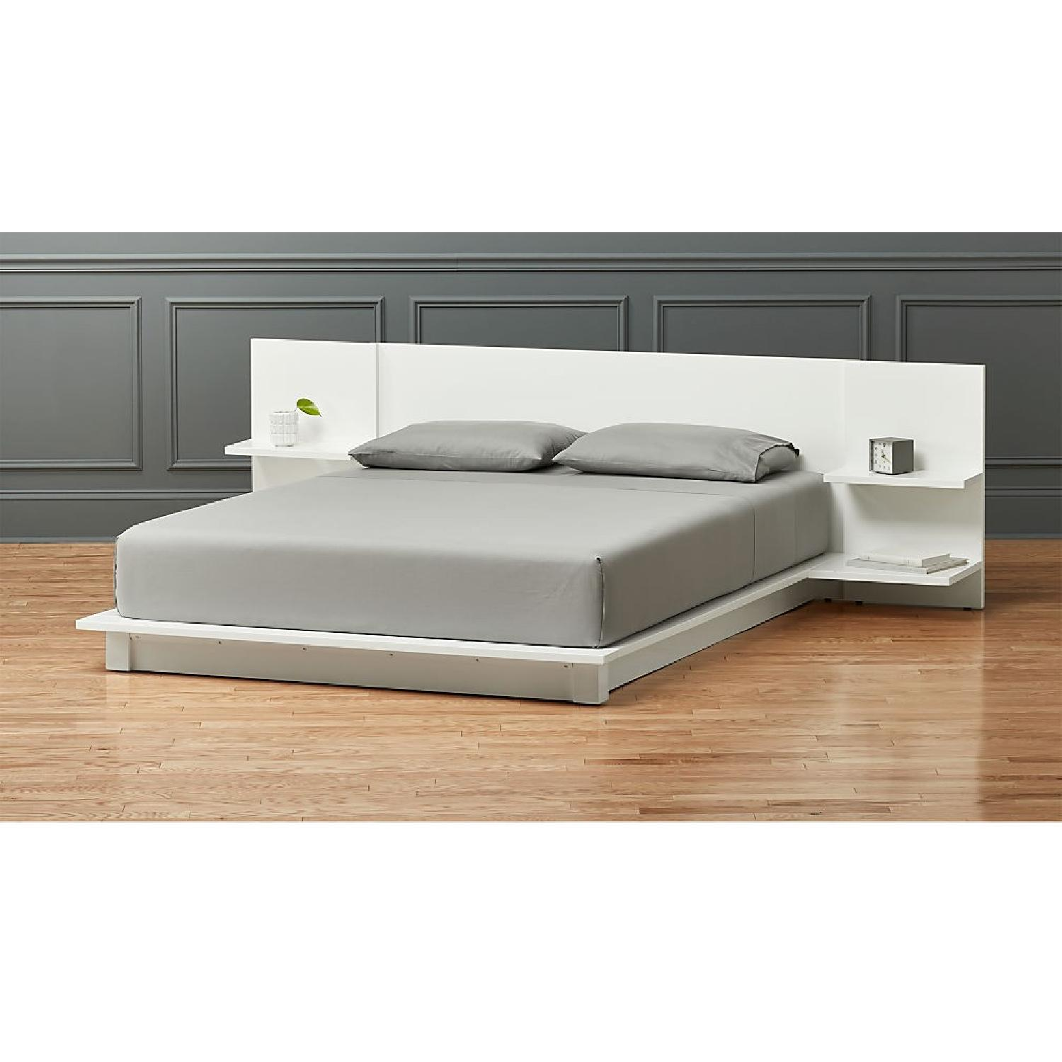 CB2 White Andes Bed - image-1