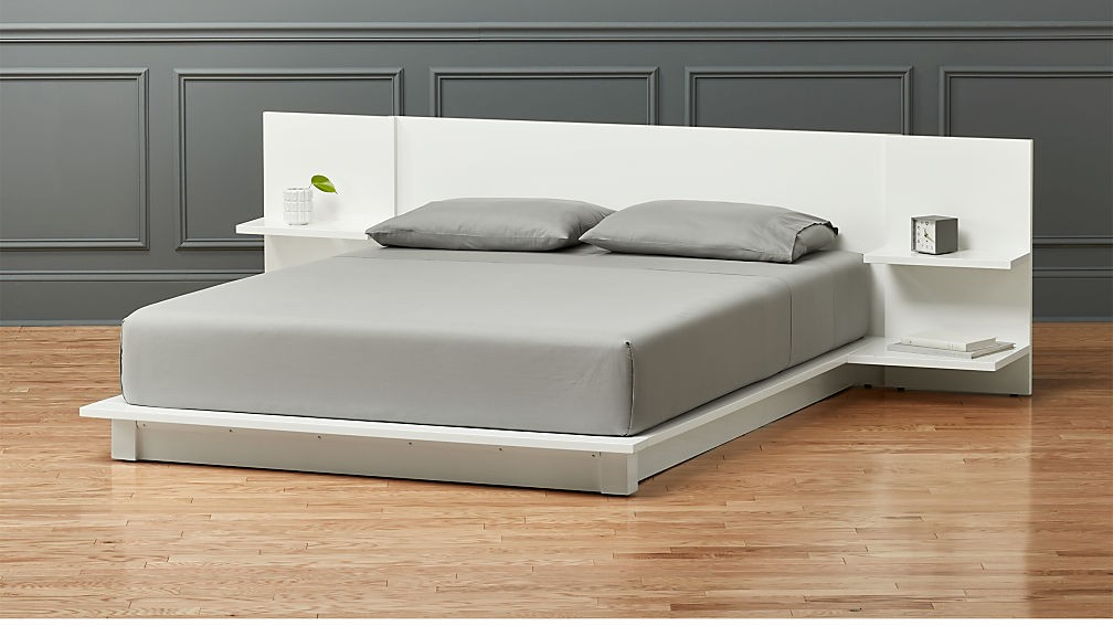 CB2 White Andes Bed