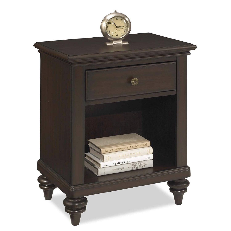 Home Styles Furniture Bermuda Espresso Nightstand - image-0