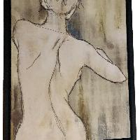 Framed Canvas Print - Woman's Back