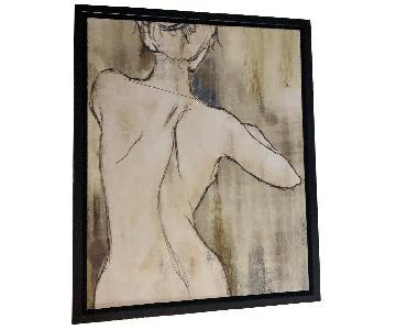 Framed Canvas Print - Woman's Back