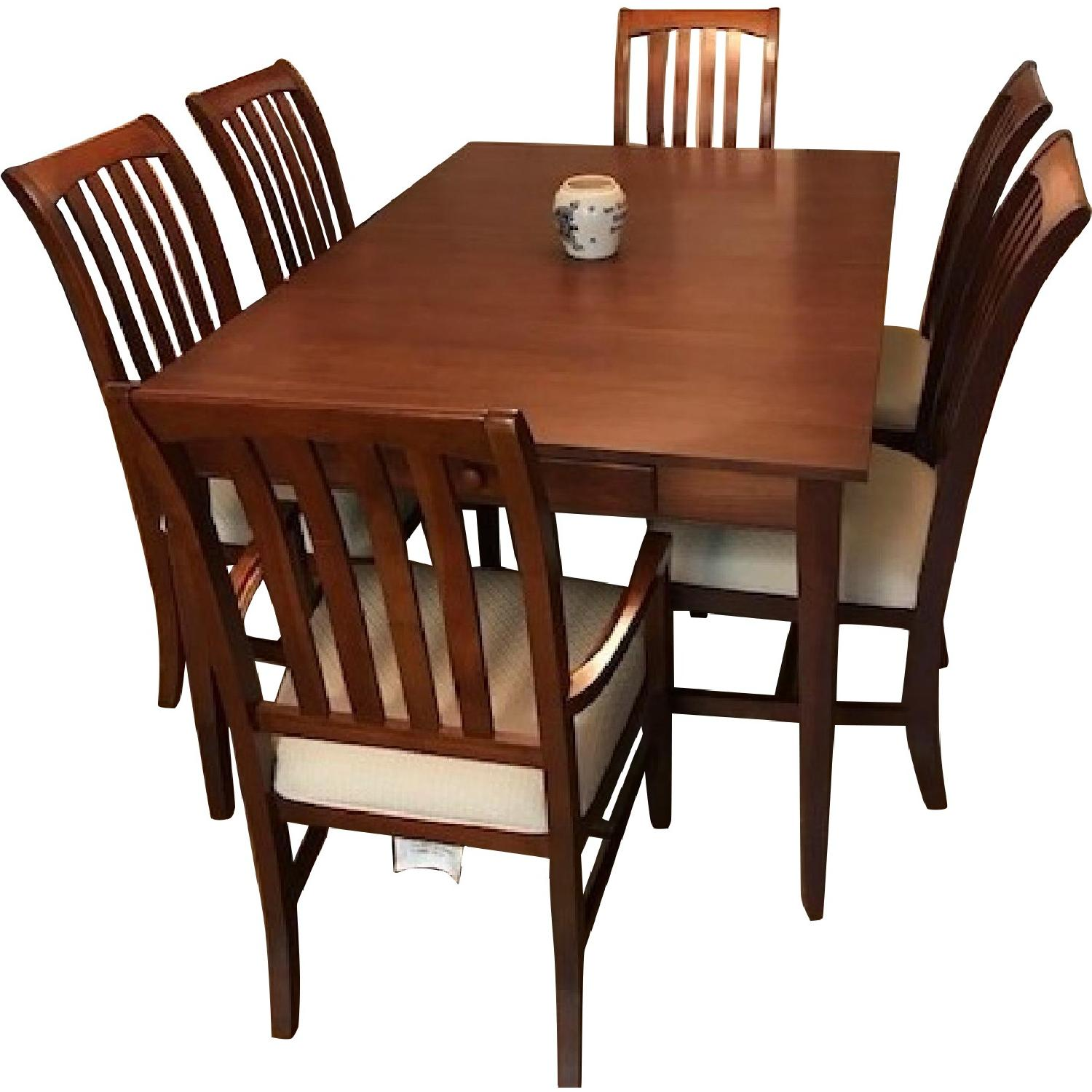 Ethan Allen Mission Square Leg Dining Table w/ 6 Chairs