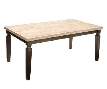 Raymour & Flanigan Marble Top Dining Table