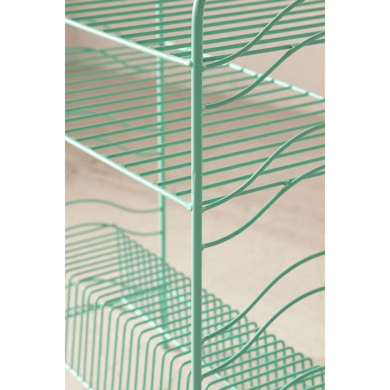 Urban Outfitters Teal Vinyl Record Storage Shelf - image-3