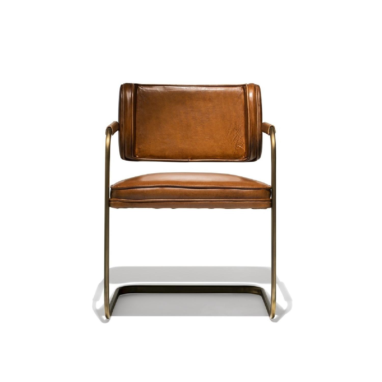 Industry West Jimmy Cooper Chair In Light Brown Copper Aptdeco