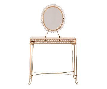Urban Outfitters Wire Loop Vanity & Chair