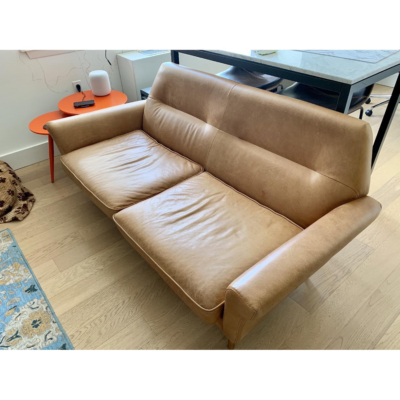 Groovy West Elm Denmark Leather Loveseat Aptdeco Ncnpc Chair Design For Home Ncnpcorg