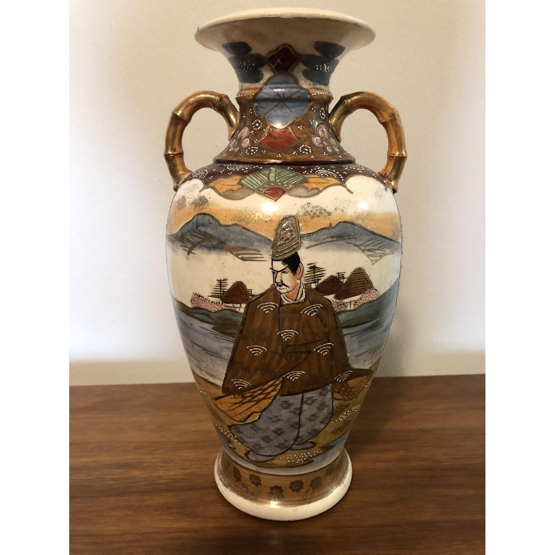 19th Century Chinese Vase w/ Battle Scene - image-1