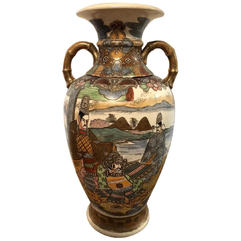 19th Century Chinese Vase w/ Battle Scene - image-0