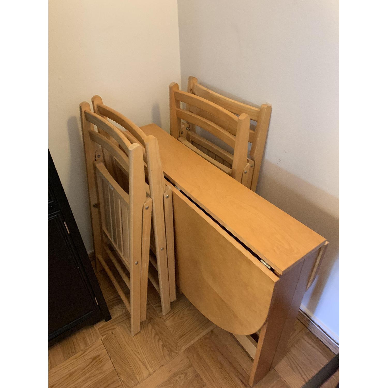 Foldable Oval Wood 5-Piece Dining Set - image-2
