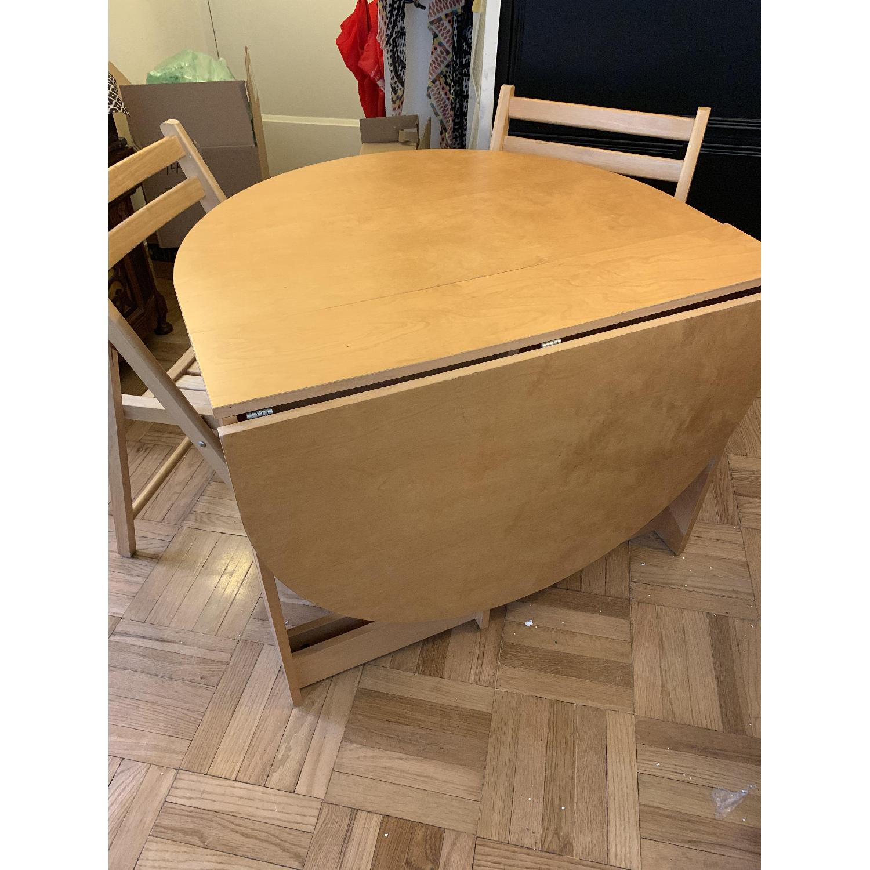 Foldable Oval Wood 5-Piece Dining Set - image-3