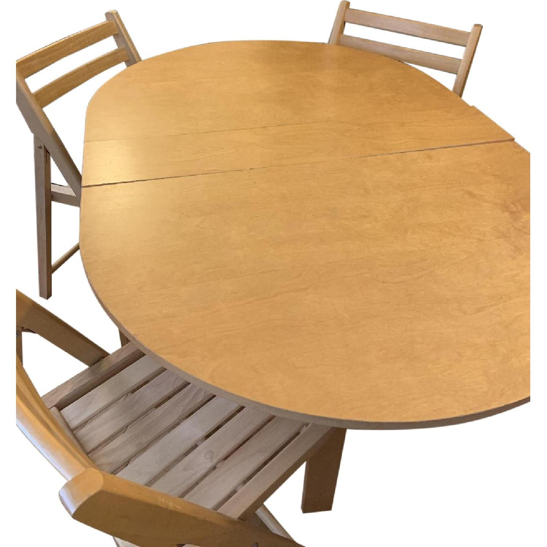 Foldable Oval Wood 5-Piece Dining Set - image-0