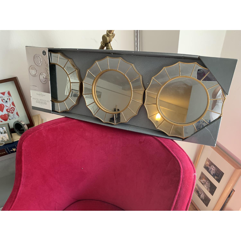 Target Threshold Radial Antique Look Mirror - image-1