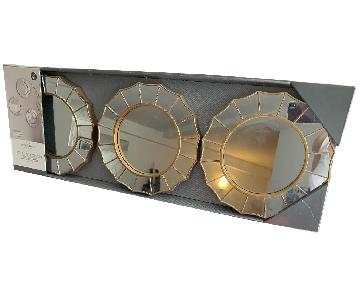 Target Threshold Radial Antique Look Mirror