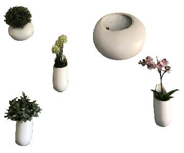 West Elm Ceramic Indoor/Outdoor Wall Planters