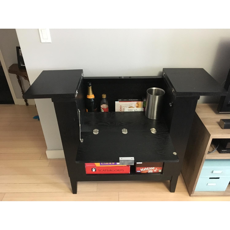 Crate & Barrel Parker Bar Cabinet in Ebony - image-2