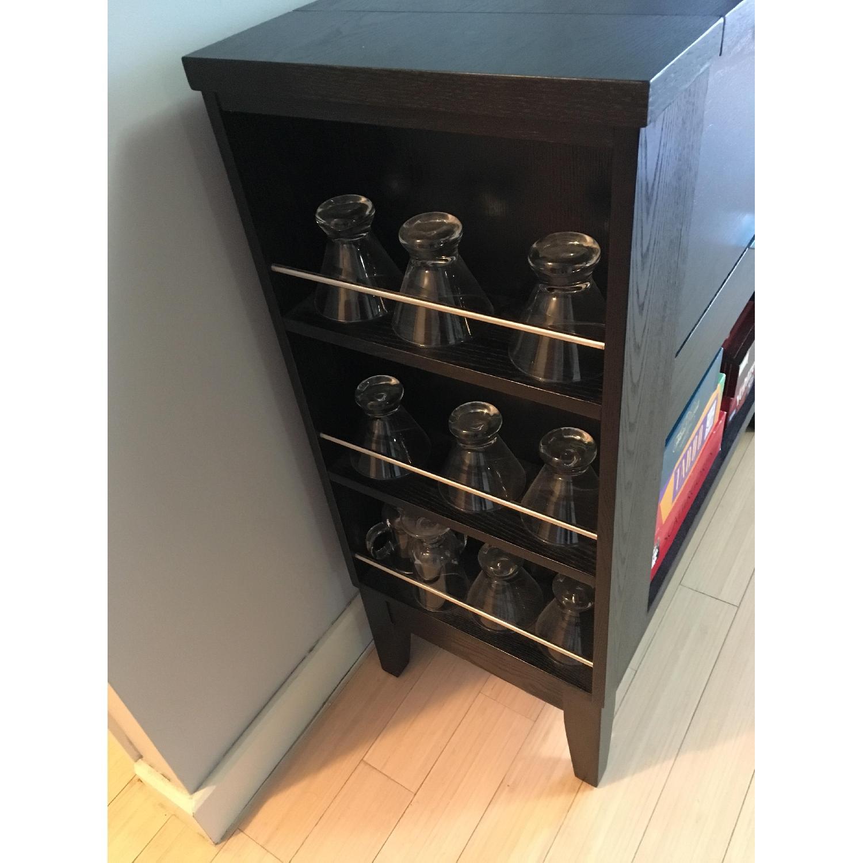 Crate & Barrel Parker Bar Cabinet in Ebony - image-4