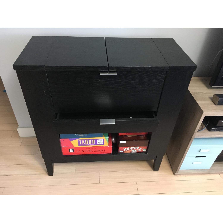 Crate & Barrel Parker Bar Cabinet in Ebony - image-5