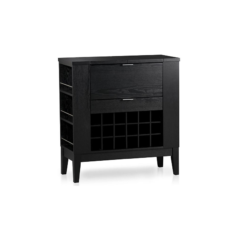Crate & Barrel Parker Bar Cabinet in Ebony - image-0