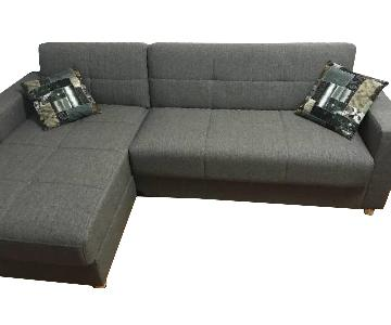 Harmony Grey Sectional Sofa w/ Storage