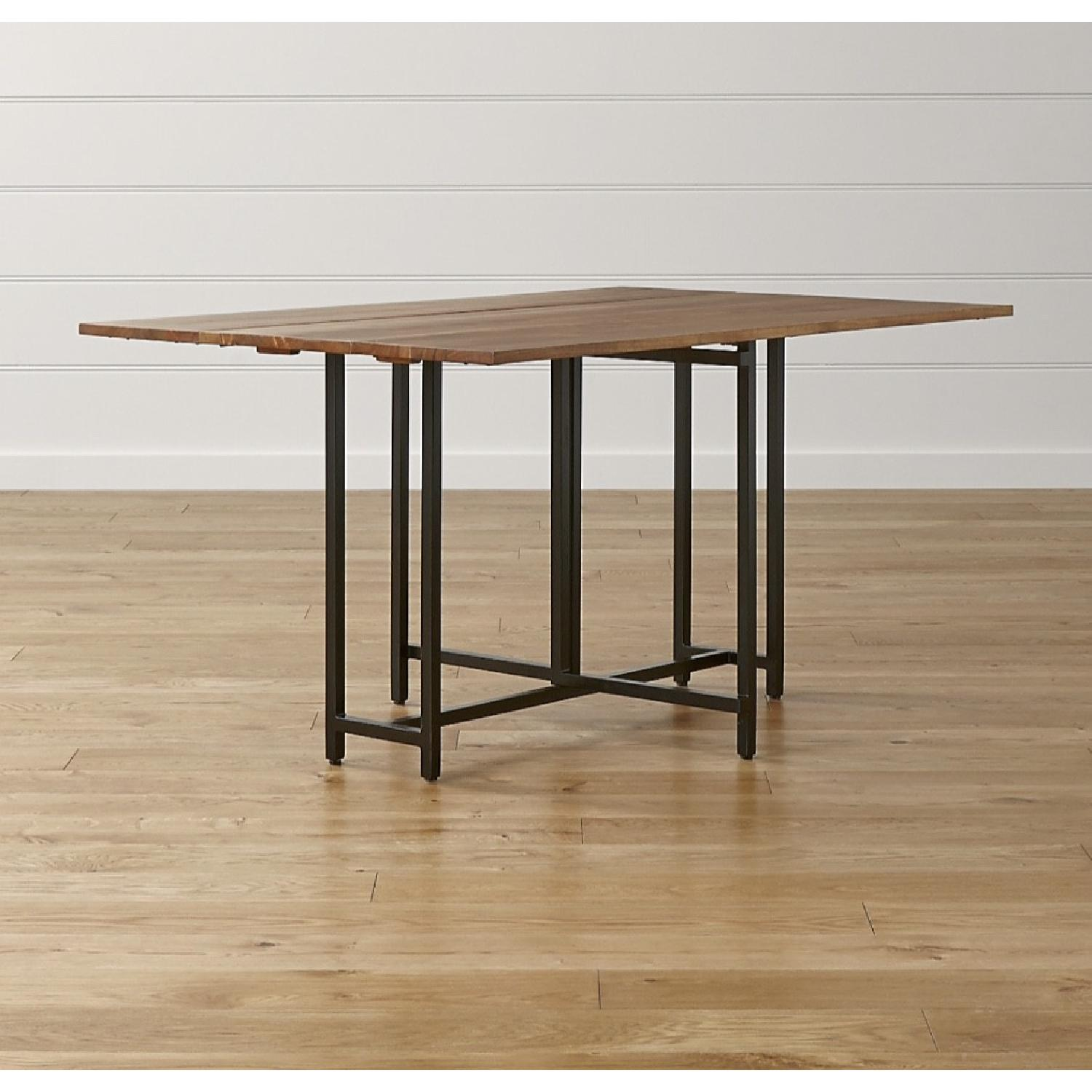 Crate & Barrel Origami Drop Leaf Rectangular Dining Table - image-4