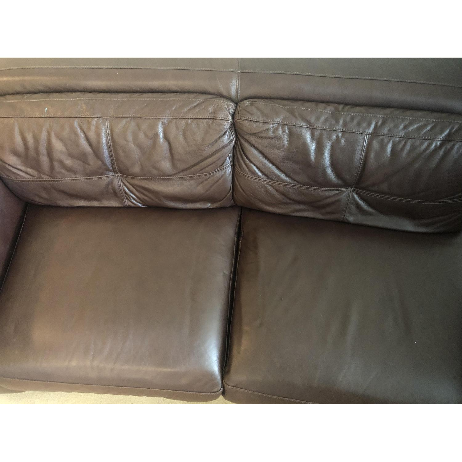 Raymour & Flanigan Austin 3 Piece Leather Sectional Sofa - image-6