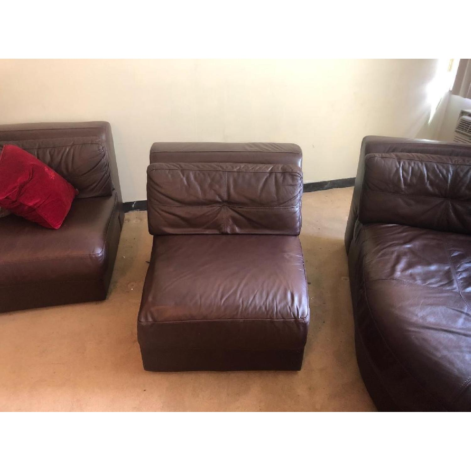 Raymour & Flanigan Austin 3 Piece Leather Sectional Sofa - image-7