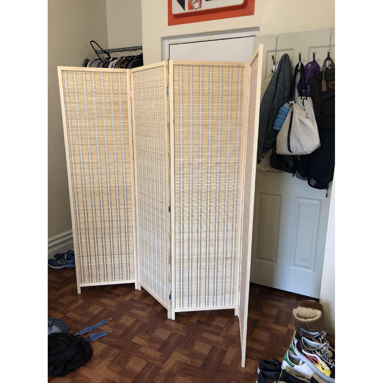 Wood 4-Panel Room Divider - image-2