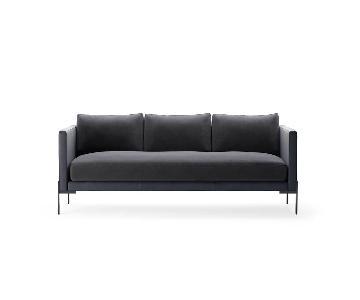 TRNK Truss Sofa in Maharam Fabric & Powder-Coated Steel