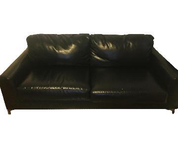 Ashley Black Faux Leather Sofa