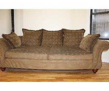 Beige Upholstered Sofa