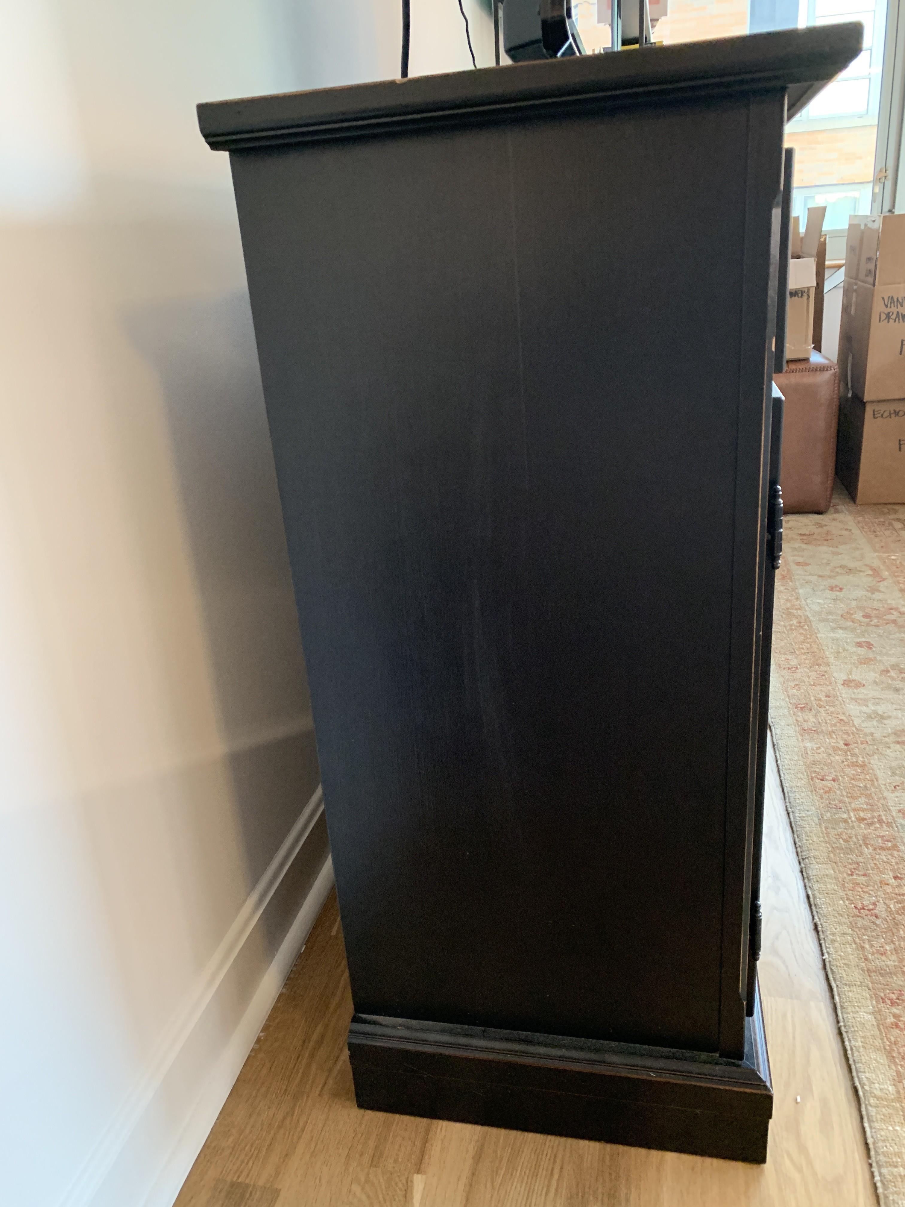 Crate & Barrel Pranzo II Black Sideboard