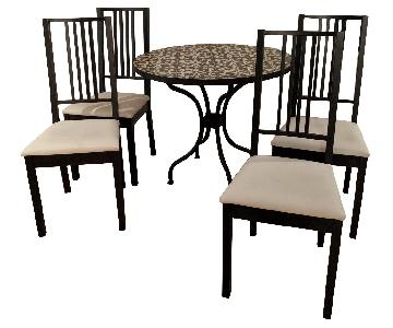 Pottery Barn Tile Bistro Table w/ 4 Chairs