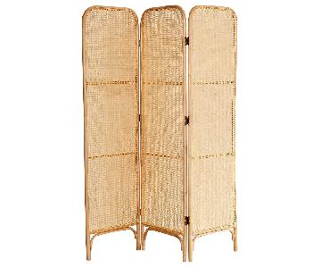 Urban Outfitters Ria Caned Bentwood Dressing Screen