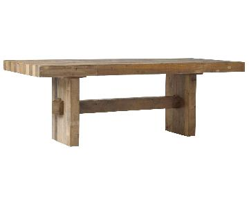 West Elm Emmerson Reclaimed Wood Dining Table w/ 2 Benches